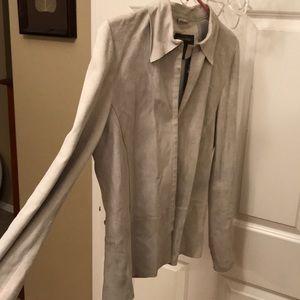 Leathery suady soft banana republic jacket